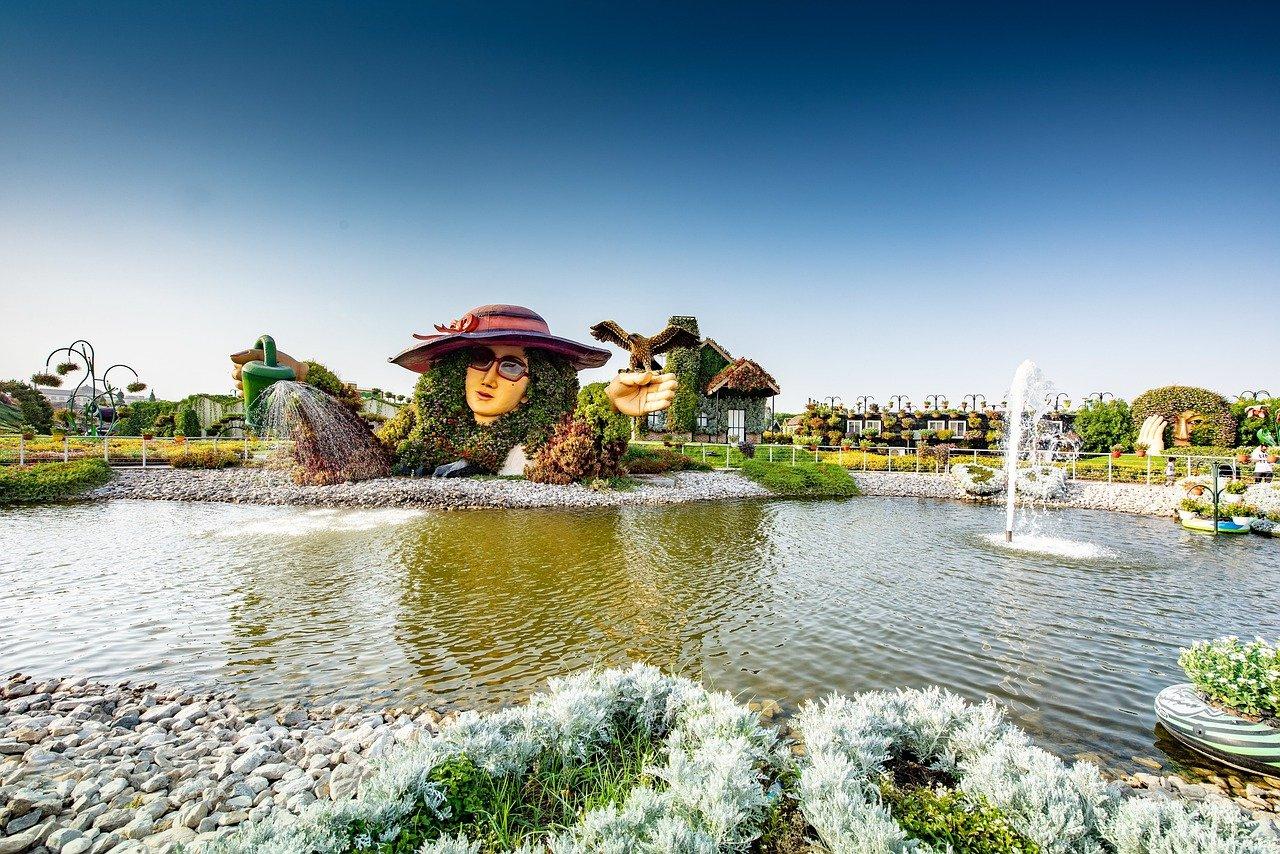 סיור בגן הפרחים דובאי